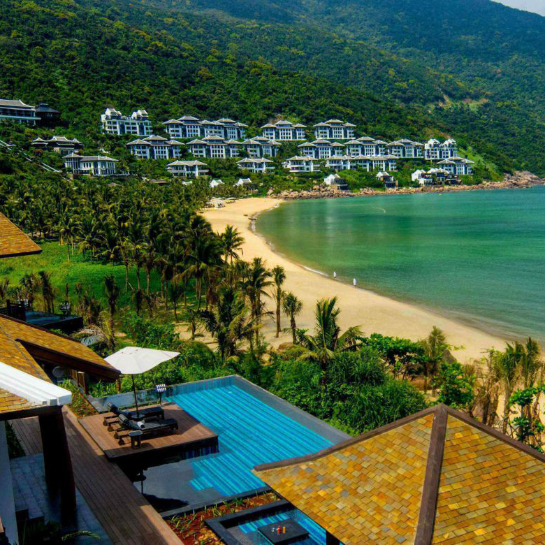 pool villas at the intercontinental danang peninsula