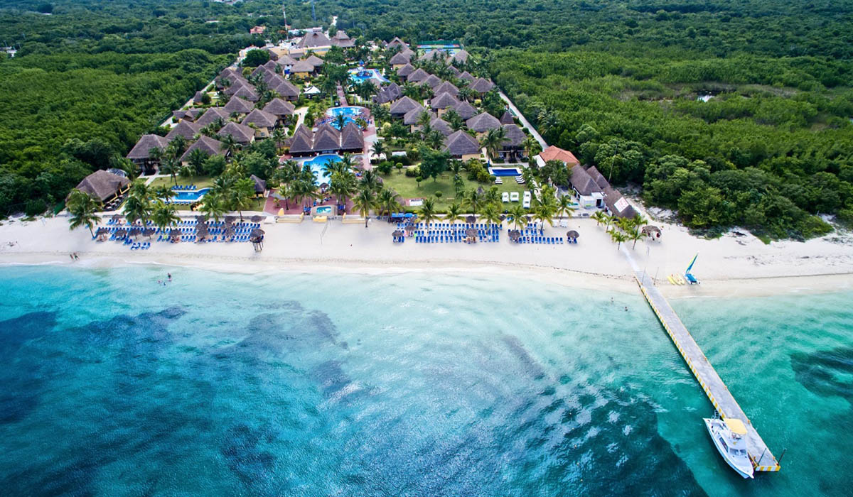 Allegro Cozumel Resort Aerial Photo of Beach Mexico